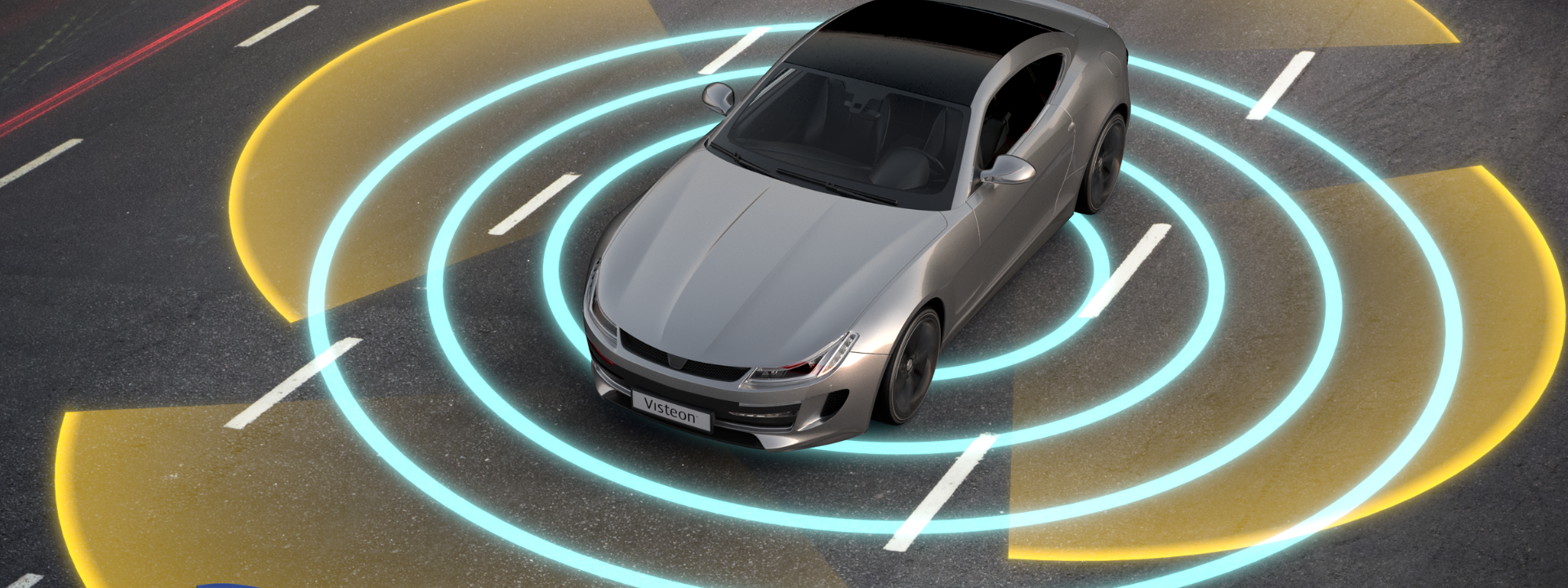 visteon-car-rendering-sensing-surroundings-on-road