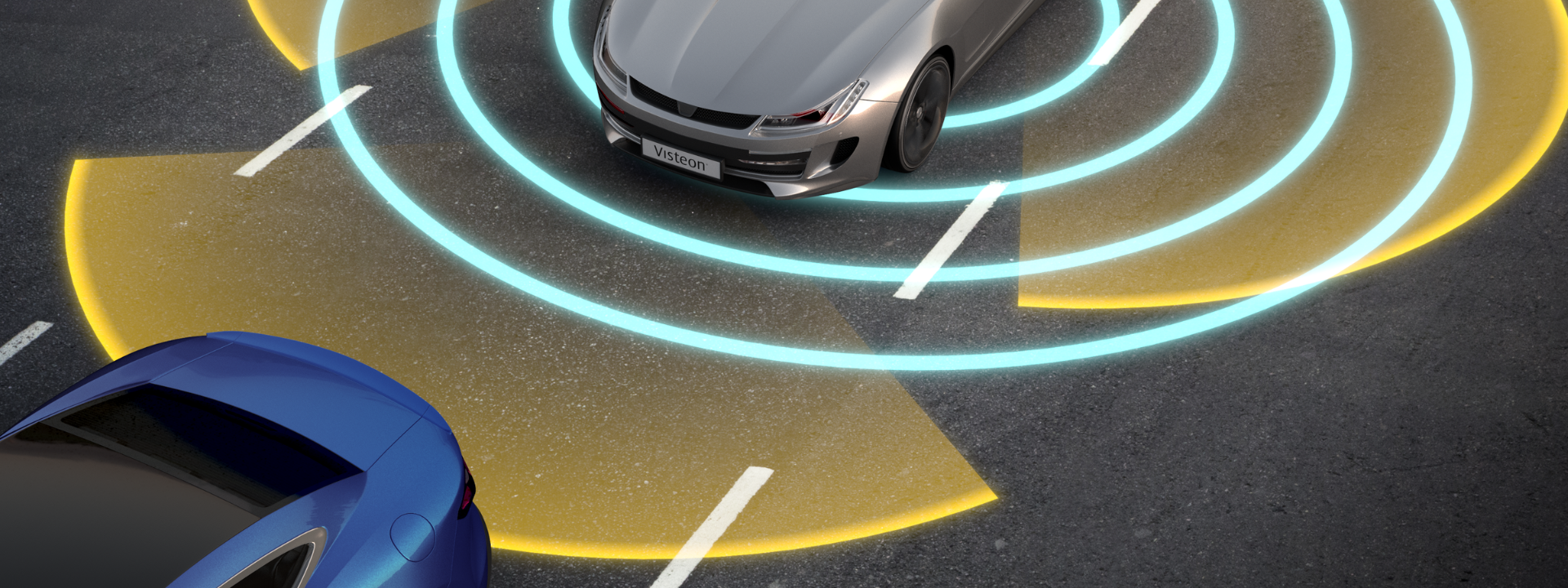 visteon-technology-header-image-car-sensing-surroundings-on-road