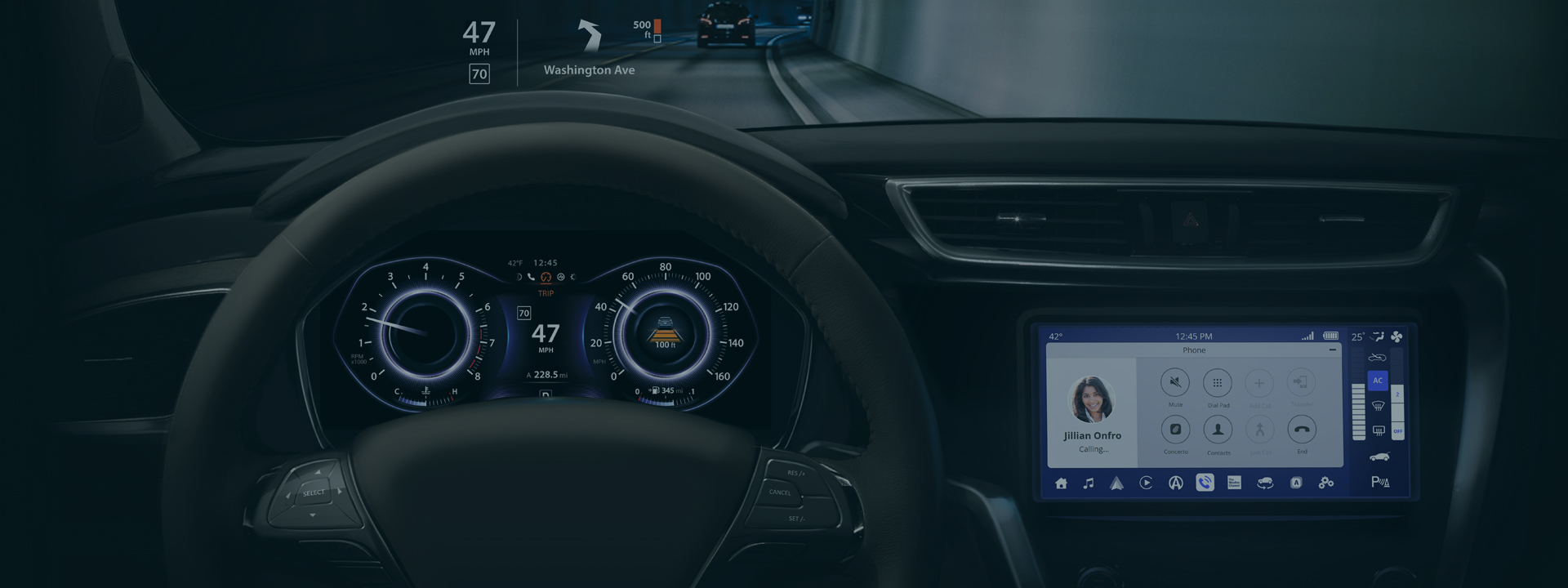 products-car-interior-cluster-display-car-driving-in-tunnel